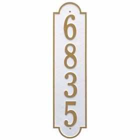 Estate Size Richmond Vertical Wall Plaque - (1 Line)