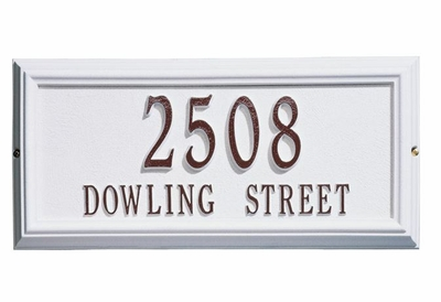 Standard Size Springfield RECTANGLE Wall or Lawn Plaque - (1 or 2 lines)
