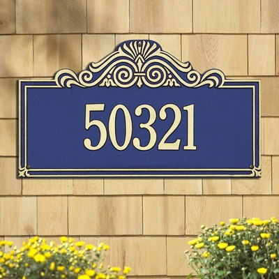 Whitehall Estate Size Villa Nova Wall or Lawn Plaque - (1 or 2 lines)