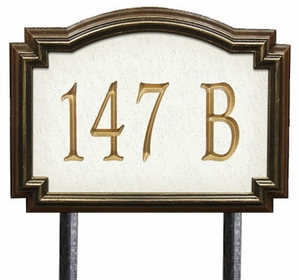 Whitehall Estate Size Williamsburg Artisan Stone Wall or Lawn Plaque - (1 Line)