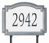Whitehall Estate Size Williamsburg Reflective Wall or Lawn Traffic Sign - (1 Line)