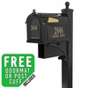 Whitehall Estate Streetside Mailbox Package In Black