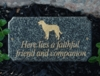 Executive (cut corner rectangle) solid Engraved granite Pet Plaque DOG