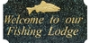 Executive (cut corner rectangle) solid Engraved granite Pet Plaque FISH