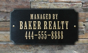 Executive Rectangle in Black granite plaque w/Engraved Text