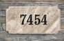 "Executive ""Cut Corner"" Rectangle Solid Granite Address Plaque with Engraved Text - Quartzite Stone Color"