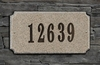 Executive Rectangle in Sand Natural granite plaque w/Engraved Text