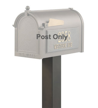 Whitehall Standard Mailbox Post Aluminum 4'' x 4'' x 40'' (Choose Color)