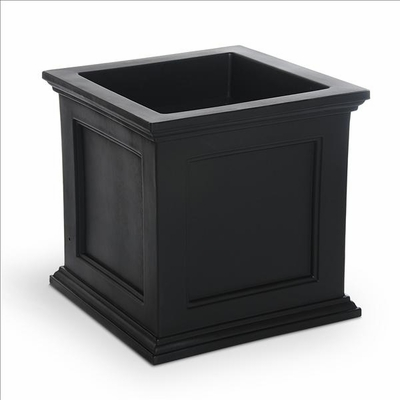 Fairfield Patio Planter 20in Square in Black