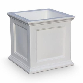 Fairfield Patio Planter 20in Square in White