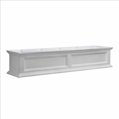 Fairfield Window Flower Box 5ft in White (includes wall mount brackets)