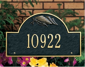 Whitehall Flag Arch Marker - Standard Lawn Address Sign - One Line