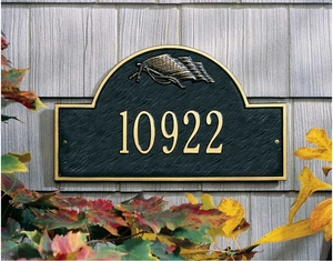Flag Arch Marker - Standard Wall Plaque - One Line