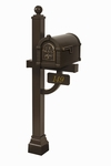 Fleur de Lis Keystone Series Deluxe Mailbox and Post Packages
