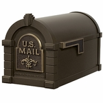 Fleur De Lis Keystone Series Mailbox - Bronze with Antique Bronze