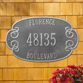 Whitehall Florence Estate Three Line Wall Plaque