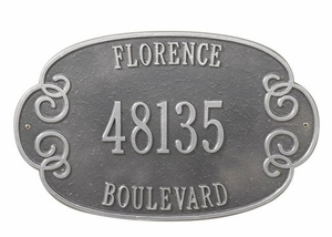 Whitehall Florence Wall Plaque - (2 or 3 Lines ONLY)