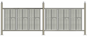 Free standing vario EXPRESS mail station kit with 4C mailboxes (174 tenant doors)