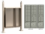 Free standing vario EXPRESS mail station kit with 4C mailboxes (29 tenant doors and 3 parcel lockers)
