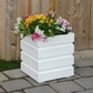 Freeport Patio Planter 18 x 18 White