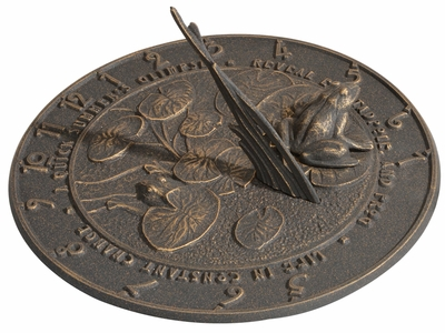Whitehall Frog Sundial - Oil Rub Bronze