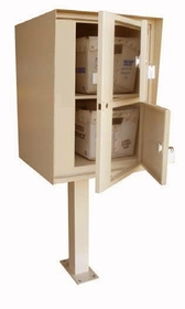 Front Access Double/Double Commercial Collection Box in Aluminum