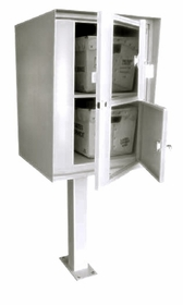 Front Access Double/Double Commercial Collection Box in Stainless