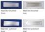 "Front and Rear Stainless Steel Mail Slot (large) 15.7"" x 3.9"" - Satin Brushed"