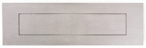 "Front and Rear Stainless Steel Mail Slot (small) 11.8"" x 3"" - Satin Brushed"