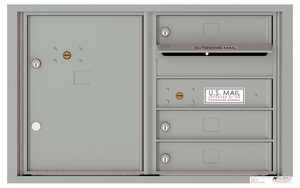 4C Front Loading Horizontal Mailboxes 3 to 4 Doors