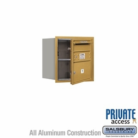 Salsbury 3704S-01GFP 4C Mailboxes 1 Tenant Doors Front Loading