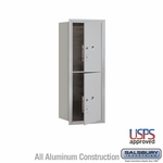 Front Loading 4C Horizontal Mailbox w/ 2 Medium Parcel Units - USPS Access - Aluminum