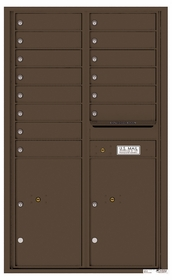 4C Rear Loading Horizontal Mailboxes 13 to 14 Doors