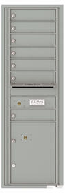 Front Loading Commercial Mailbox - 7 Tenant Doors and 1 Parcel Locker - Single Column