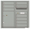 Front Loading Commercial Mailbox with 9 Tenant Compartments and 1 Parcel Locker