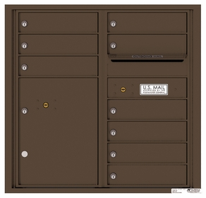 4C Rear Loading Horizontal Mailboxes 9 to 10 Doors