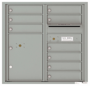 4C Front Loading Horizontal Mailboxes 9 to 10 Doors