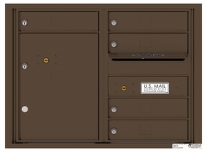 4C Rear Loading Horizontal Mailboxes 5 to 6 Doors