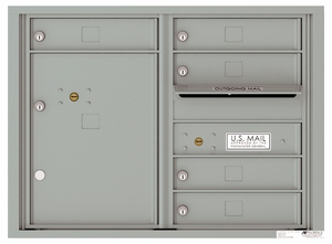 4C Front Loading Horizontal Mailboxes 5 to 6 Doors