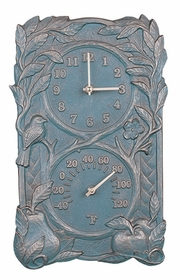 Whitehall Fruit and Bird Combo (Clock/Thermometer)