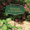 Whitehall Welcome to My Garden Garden Sign (Green/Gold)