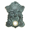 Whitehall Garden Smile Doorbell (Solid Brass) - Verdigris Finish