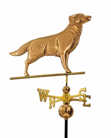 Golden Retriever Weathervane - Polished Copper