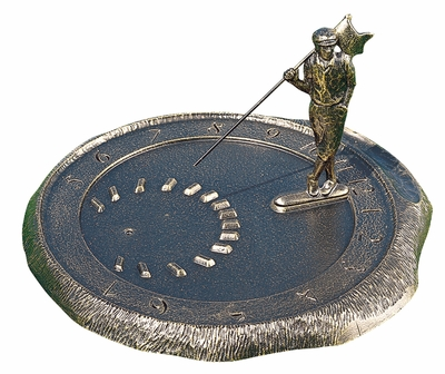 Whitehall Golfer Sundial - Oil Rub Bronze