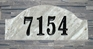 Ridgecrest Arch Solid Granite Address Plaque with Engraved Text - Quartzite Stone Color