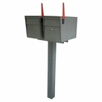 Mail Boss Ultimate High Security Locking Twin Mailbox & Post Package
