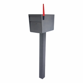 Ultimate High Security Locking Single Mailbox & Post Package (Choose Color)