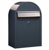 USPS Bobi Classic Grey Front Access Lockable Mailbox