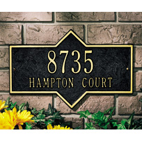 Whitehall Hampton Standard Two Line Wall Plaque