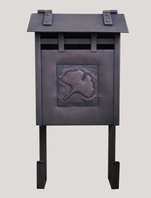 Handmade Mailbox With Ginkgo Leaf Design